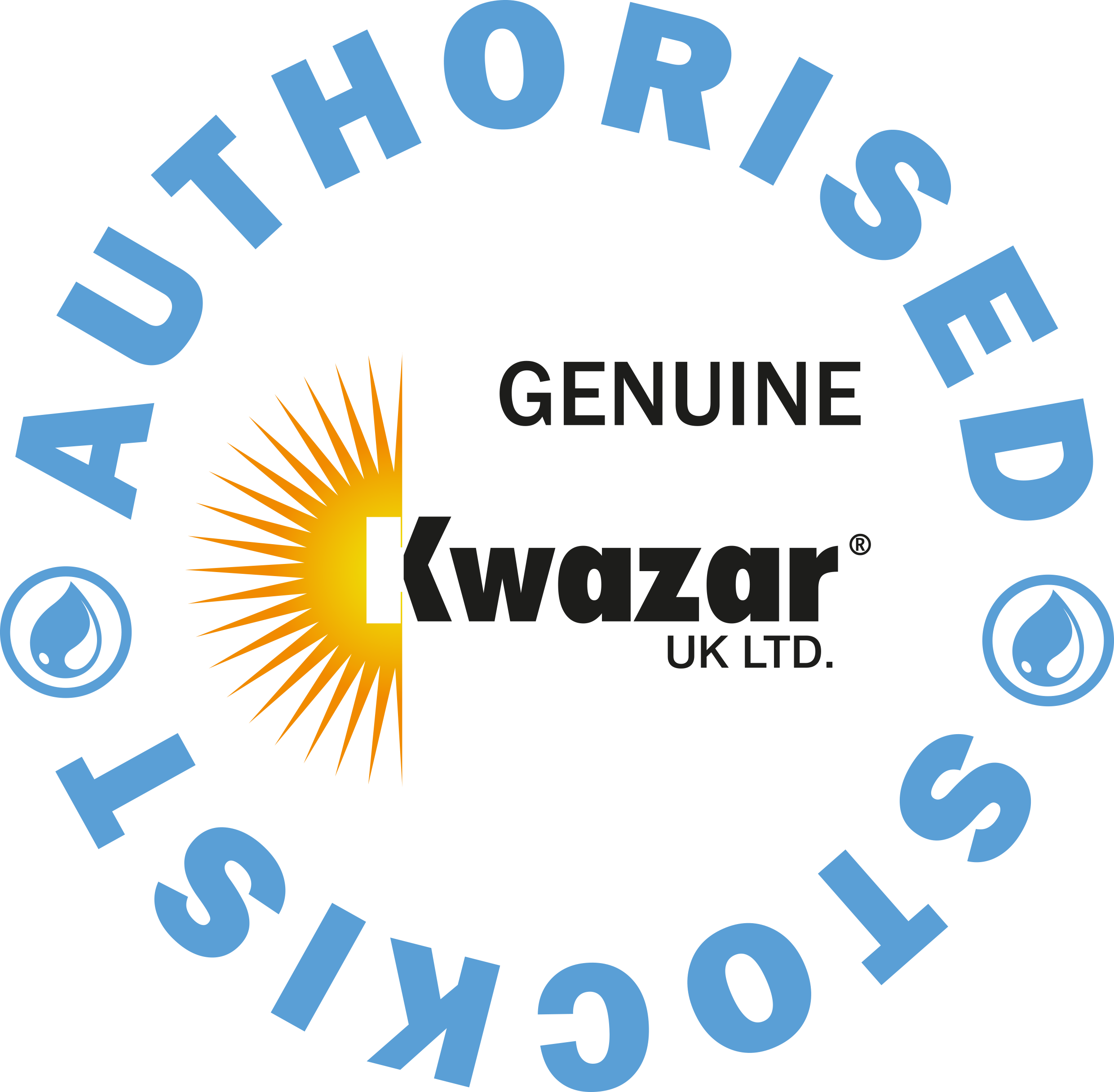 authorised UK Kwazar Stockist logo